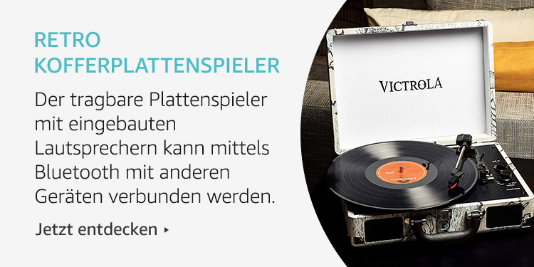 Amazon Launchpad Start-up-Produkte: Retro Kofferplattenspieler