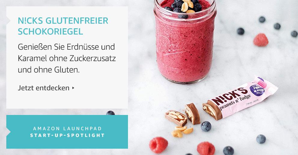 Amazon Launchpad: N!cks glutenfreier Schokoriegel