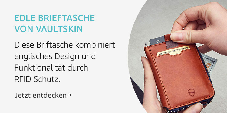 Amazon Launchpad Start-up-Produkte: Edle Brieftasche von Vaultskin