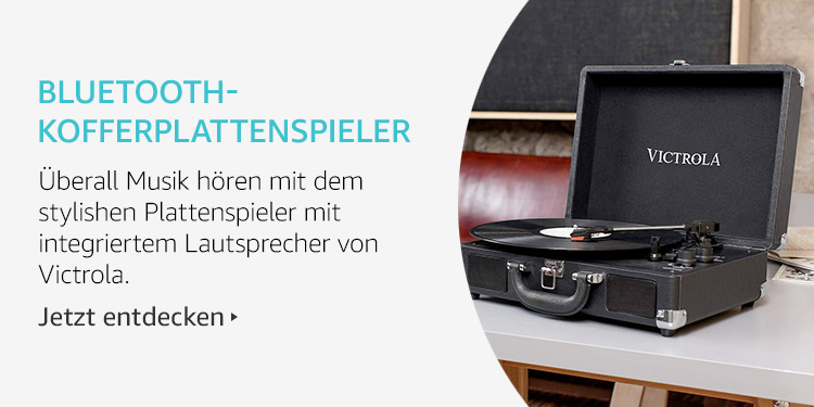Amazon Launchpad Start-up-Produkte: Bluetooth-Kofferplattenspieler