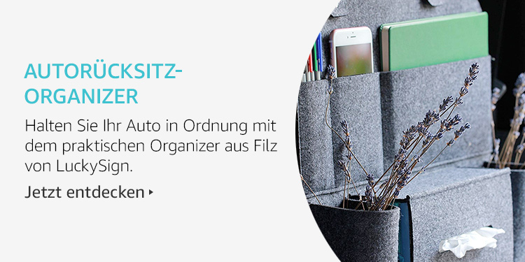 Amazon Launchpad Start-up-Produkte: Autorücksitz-Organizer