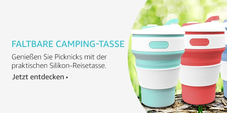Amazon Launchpad Start-up-Produkte: Faltbare Camping-Tasse