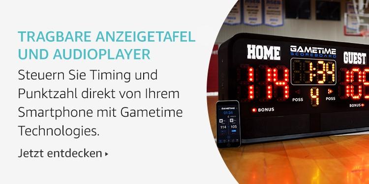Tragbare Anzeigetafel und Audioplayer