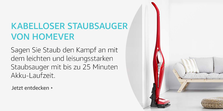 Amazon Launchpad Start-up-Produkte:Kabelloser Staubsauger Von Homever