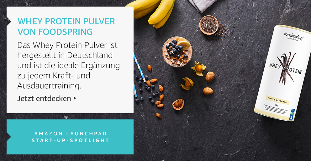 Amazon Launchpad: Whey Protein Pulver Von Foodspring