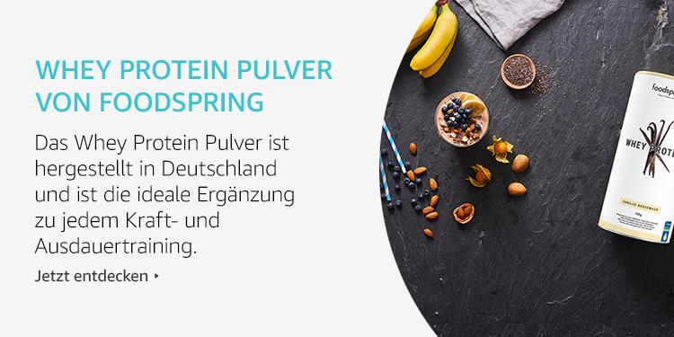 Amazon Launchpad Start-up: Whey Protein Pulver Von Foodpsring