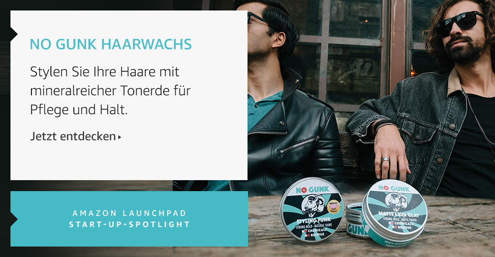 Amazon Launchpad: No Gunk Haarwachs