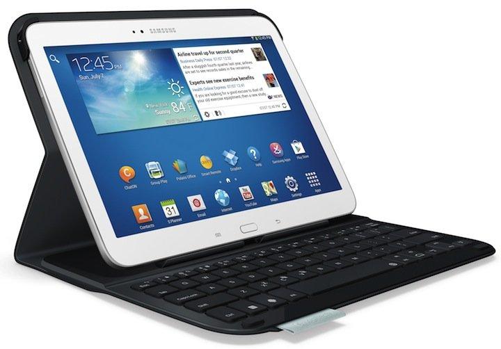 logitech ultrathin keyboard folio f r samsung amazon de