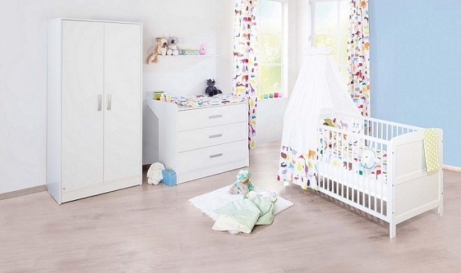 jugendbett kaffeefarben pinolino kinderzimmer viktoria breit 3 teilig kinderbett 140 x 70 cm. Black Bedroom Furniture Sets. Home Design Ideas