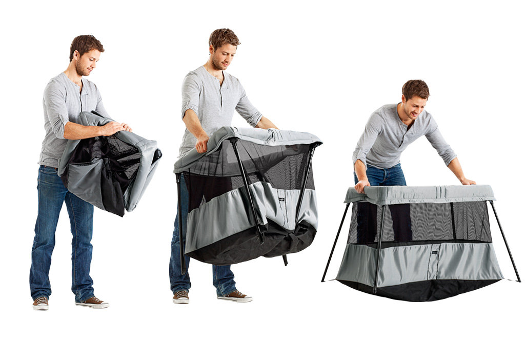 babybj rn travel cot light silver baby. Black Bedroom Furniture Sets. Home Design Ideas