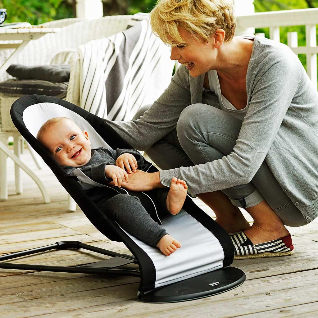 BABYBJÖRN Babysitter Balance Schwarz Silber