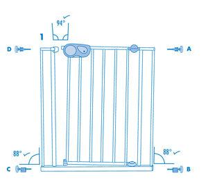 Safety 1st Quick Close - praktisches Türschutzgitter ohne Bohren