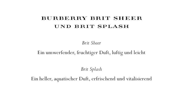 Burberry Brit Sheer/ Brit Splash