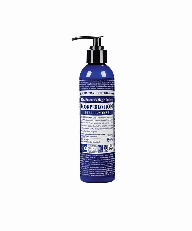 Dr. Bronner Body Lotion Pfefferminze