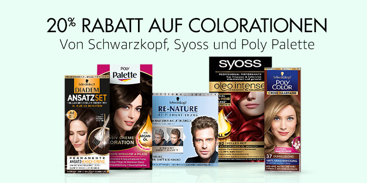 20% Rabatt auf Colorationen