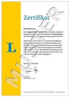 Langenscheidt Komplett-Paket Englisch, Zertifikat