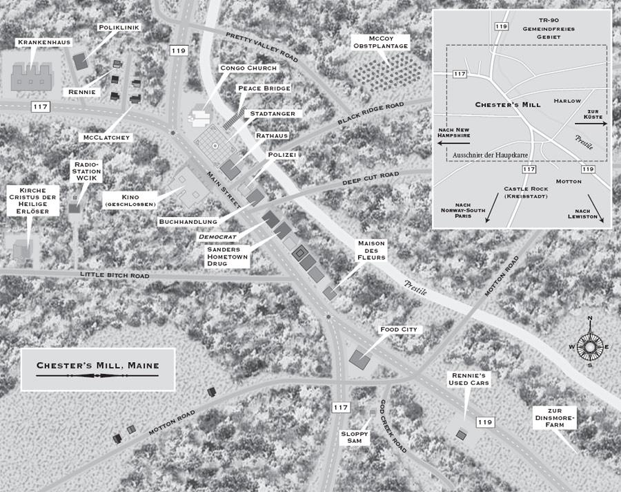 Lageplan der Stadt Chester's Mill