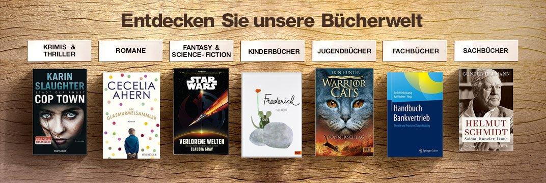 Bücher: Romane, Krimis, Kinderbücher, Schulbücher, Sachbücher, Fachbücher