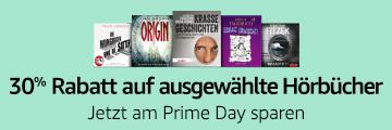 Prime Day Angebot: 30% Rabatt auf ausgewählte Hörbücher