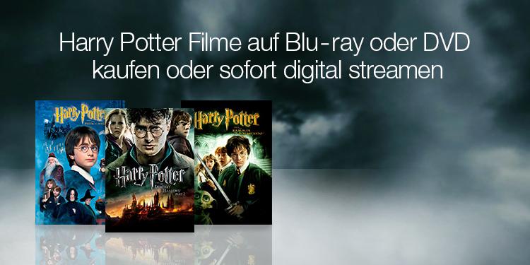 Harry Potter Filme auf Blu Ray oder DVD kaufen oder sofort digital streamen