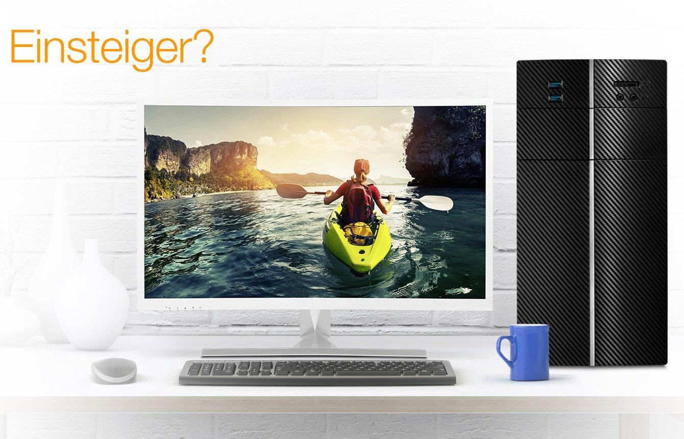 amazon 39 s choice desktops f r einsteiger gaming. Black Bedroom Furniture Sets. Home Design Ideas