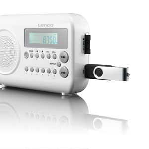lenco mpr 033 portables ukw radio usb anschluss sd. Black Bedroom Furniture Sets. Home Design Ideas