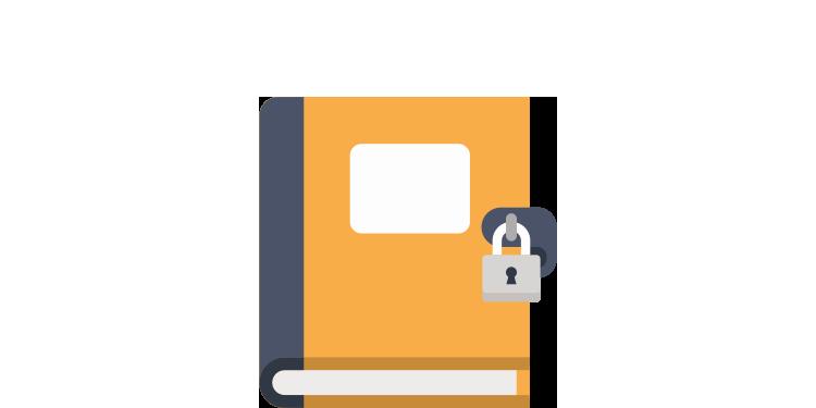 Image of locked book