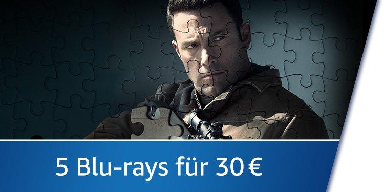 5 Blu-rays für 30 EUR