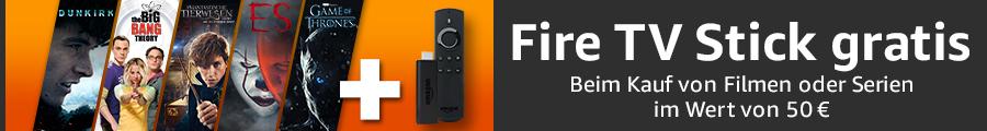 [amazon.de] Fire TV Stick gratis beim Kauf ausgewählter Film um min. 50€