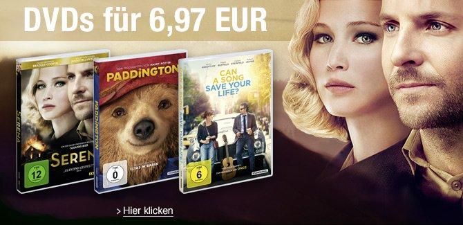 DVDs für 6.97 EUR