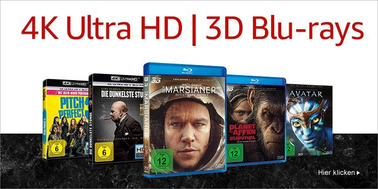 4K UHDs und 3D Blu-rays