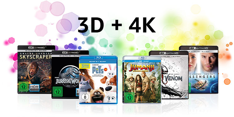 3D und 4K UHD Blu-rays