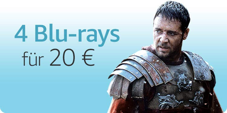 4 Blu-rays für 20 EUR