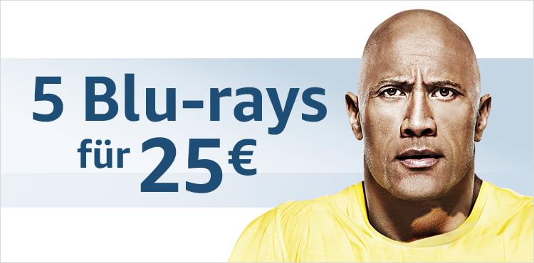 5 Blu-rays für 25 EUR