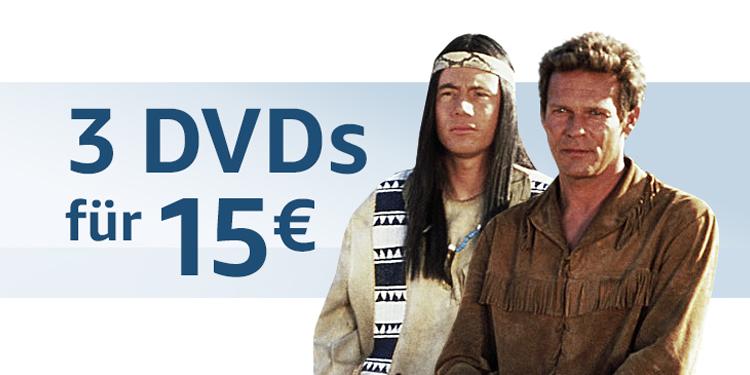 3 DVDs für 15 EUR