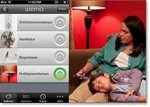 Kostenlose WeMo App zur Verwendung mit beliebigen Apple Geräten (iOS 5 oder höher) zur Erstellung von Zeitplänen für Lampen, Fernseher, Haushaltsgeräte und mehr