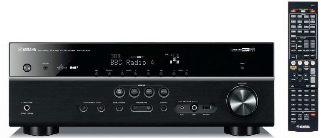 yamaha rx v500 dab av receiver schwarz audio. Black Bedroom Furniture Sets. Home Design Ideas