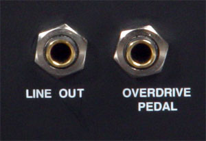Line Out- und Ovedrive Pedal Anschluss