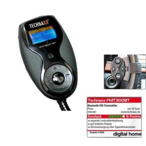 Technaxx FMT 300 BT FM Transmitter und Freisprecheinrichtung