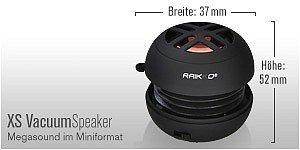 RAIKKO XS Vacuum Speaker Abmessungen