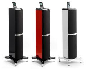 lenco ipod tower 1 lautsprecher mit apple ipod docking station 60 watt schwarz. Black Bedroom Furniture Sets. Home Design Ideas