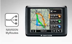 NAVIGON 1410 EU 40 Navigationssystem 3,5 Zoll40 Länder