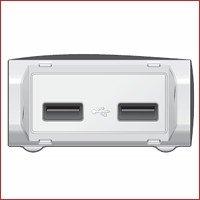2 USB-Ports – einer mit 4-fach stärkerer Stromversorgung