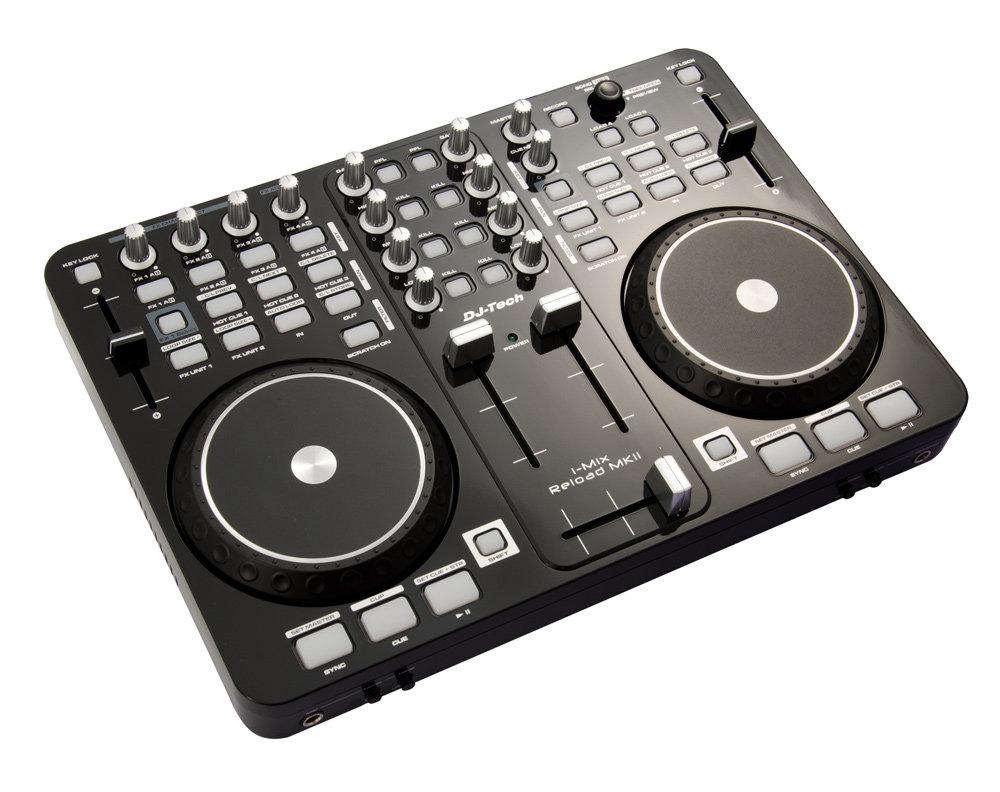 Dj tech i mix reload mkii table de mixage pour dj usb avec - Table de mixage avec carte son integree ...