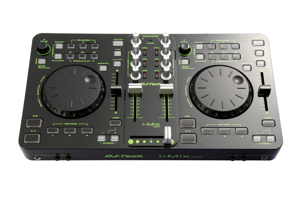 DJ-Tech I-Mix MKII USB-DJ-Mixer/Controller mit Soundkarte