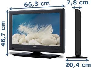 Thomson 26 hs2244 66 cm 26 zoll lcd fernseher hd ready dvb t usb anschluss - Fernseher wandmontage hohe ...