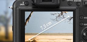 7,5 cm großer LCD-Monitor