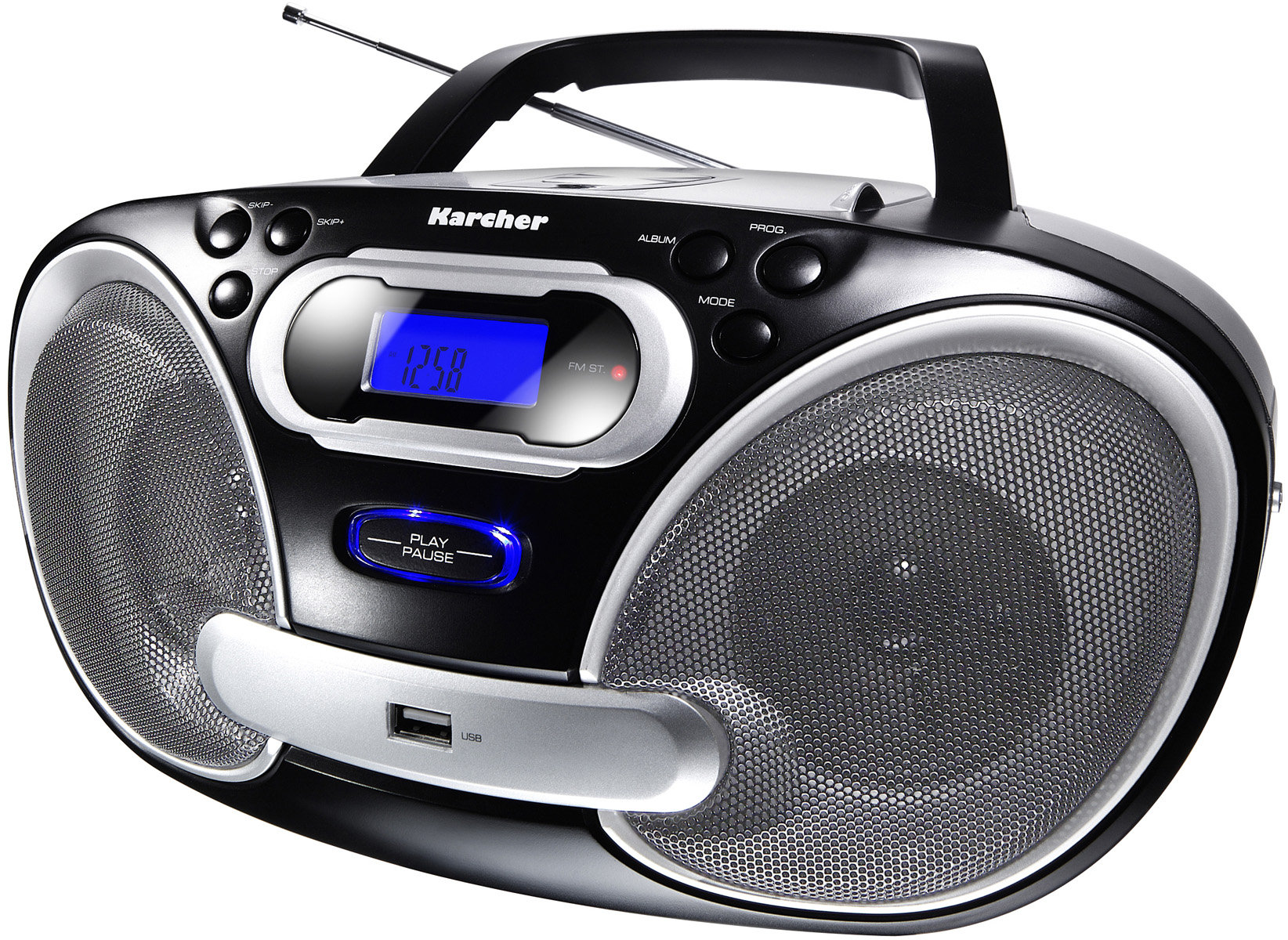 karcher rr5050 tragbares stereo radio cd mp3 player ukw radio usb 2 0 50 watt pmpo. Black Bedroom Furniture Sets. Home Design Ideas