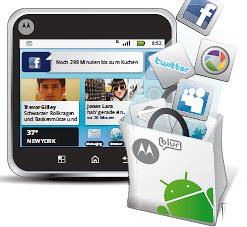 MOTOBLUR synchronisiert Ihre sozialen Netzwerke