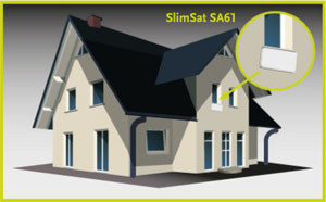 strong slimsat sa 61 single satelliten flachantenne. Black Bedroom Furniture Sets. Home Design Ideas